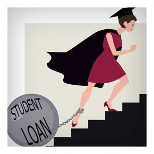 student loan graphic